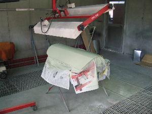 赤外線でサフェーサーを乾燥させる