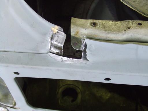 防錆と溶接がやりやすい位置で切り取る