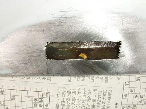 防錆剤を流し込んで浸透させる