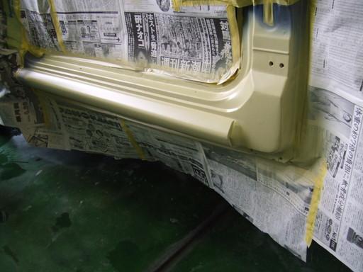 サイドシル鈑金修理、終了