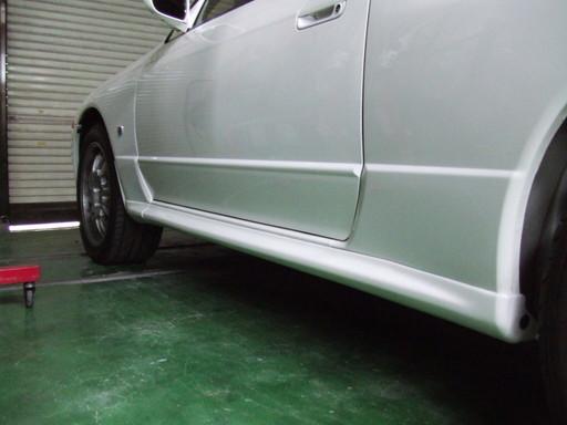 R32 GT-R の潰れたサイドシル修理完了